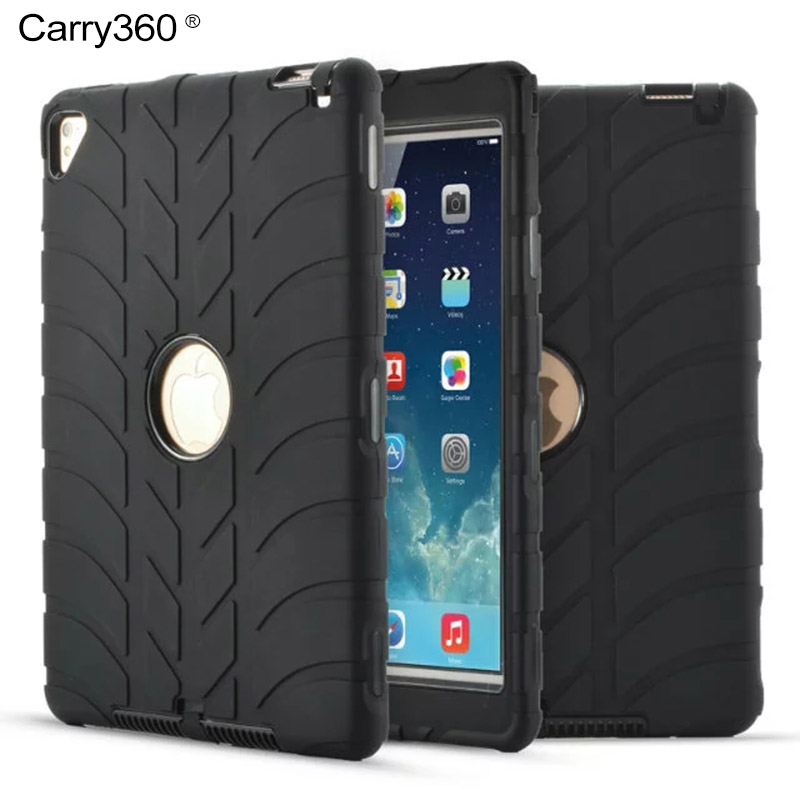 Carry360 For iPad Air 2 Case Shockproof Drop Resistance Heavy Duty Silicone Hard Protection Cover for Apple iPad Pro 9.7 inch tablet case for ipad air 2 a1567 extreme heavy duty shockproof rubber cover with stand hard cover case for ipad pro 9 7 inch