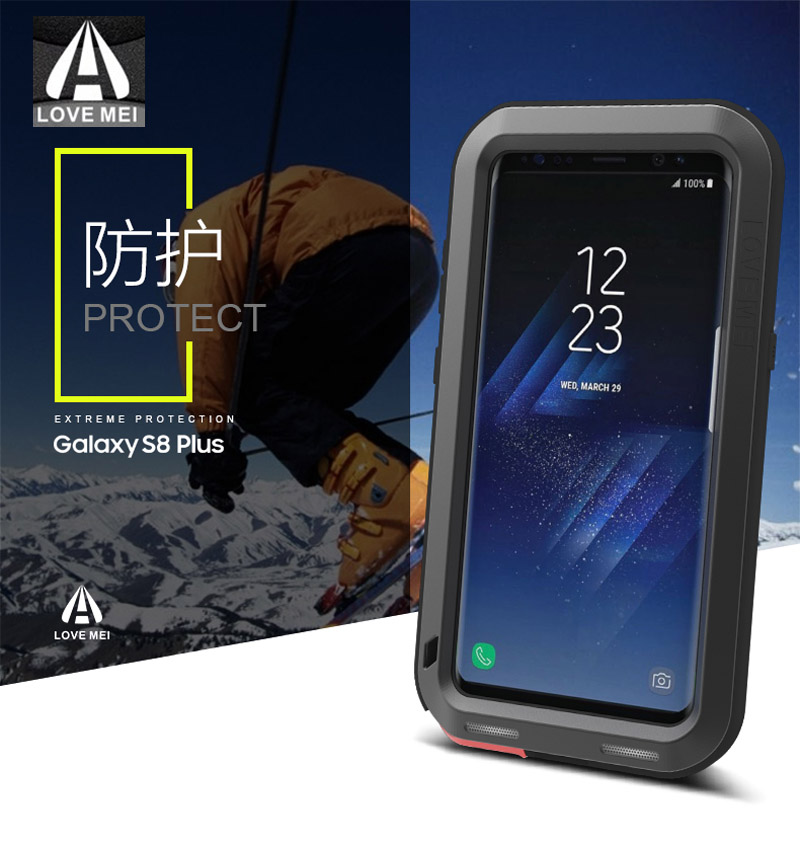 new concept cf56d 36932 US $28.05 15% OFF|New 2017 S8 S8 Plus Case LOVE MEI Life Waterproof Metal 3  Proof Phone Case for SAMSUNG Galaxy S8 Plus S8+ Full protection Covers-in  ...
