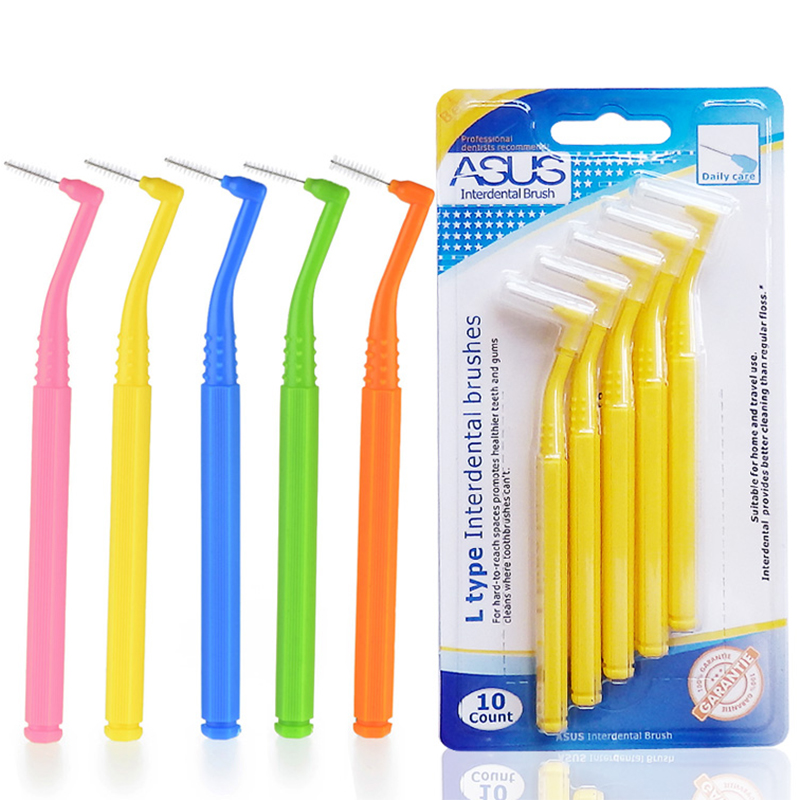 10Pcs/set Interdental Angled Brush Orthodontic Toothbrushes Soft Dental Interdental Oral Care Brushes image