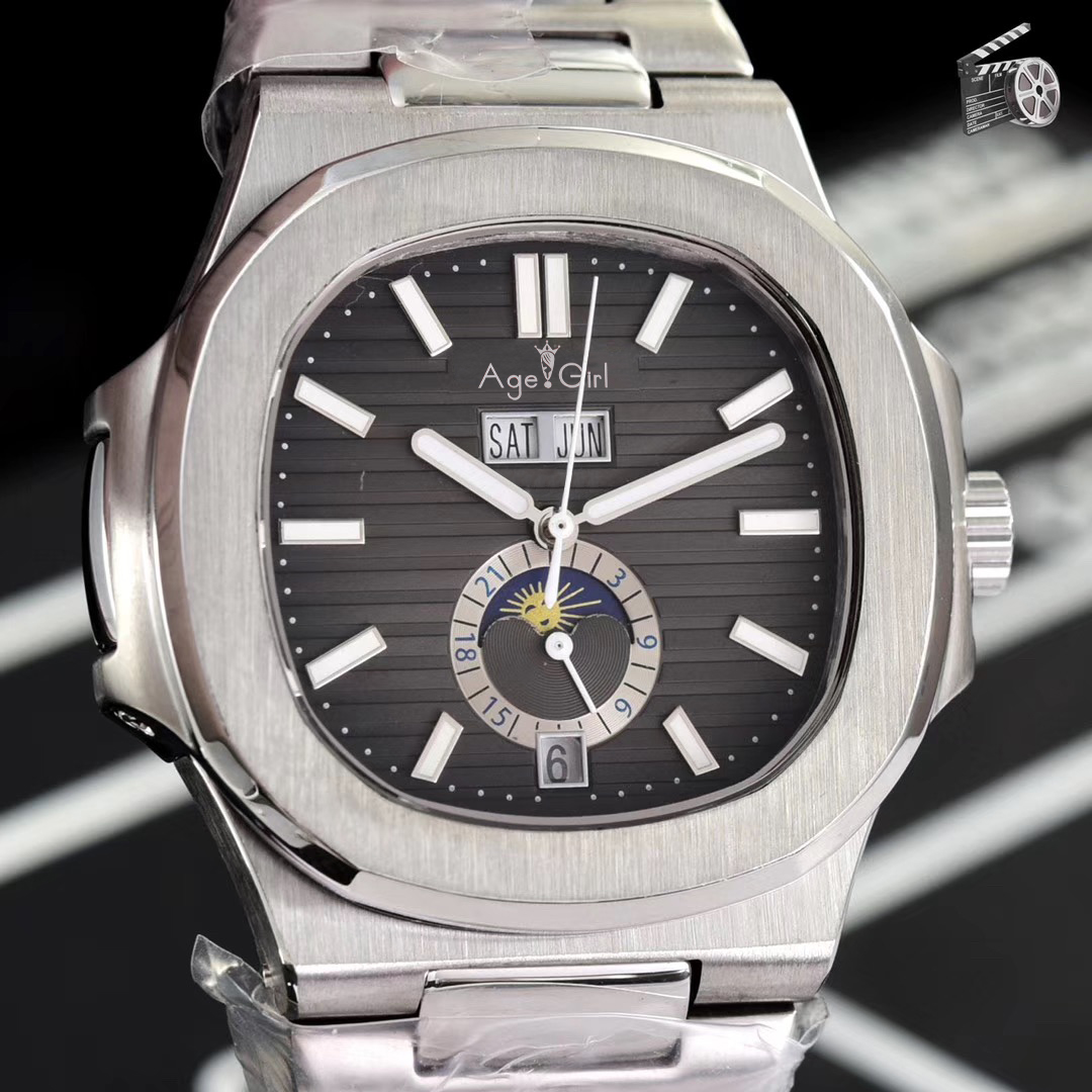 Luxury Brand New Automatic Mechanical Men Watch Sapphire DayDate Transparent Silver MoonPhase Watches Black Blue Multi-functionLuxury Brand New Automatic Mechanical Men Watch Sapphire DayDate Transparent Silver MoonPhase Watches Black Blue Multi-function