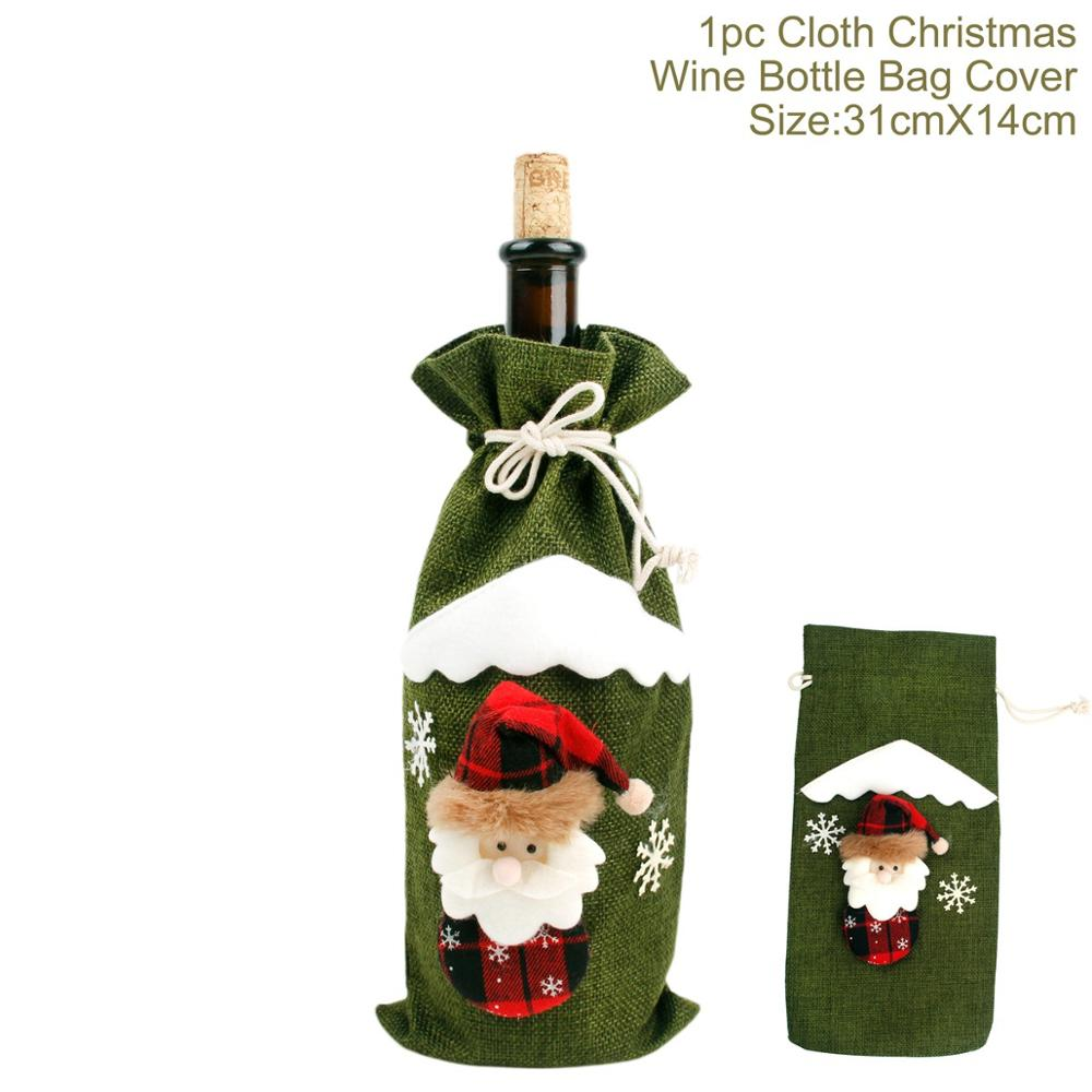 ad852696397d6  o  PATIMATE Noel 2018 Christmas Decors for Home Christmas Wine Bottle 2019  Happy New Year Christmas Ornaments Christmas Tree Decor-in Pendant   Drop  ...