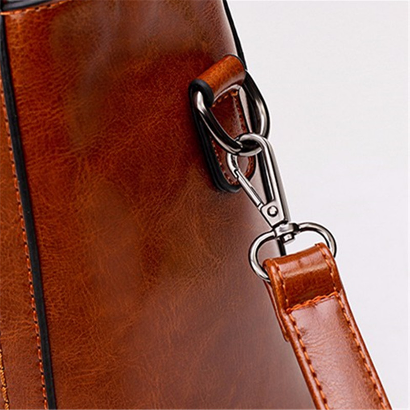 Bisi Goro 2018 Oil Wax Women Handbags Tree Branches Metal Decor Handbags Lady Shoulder Crossbody Messenger Bag Female Purse Tote