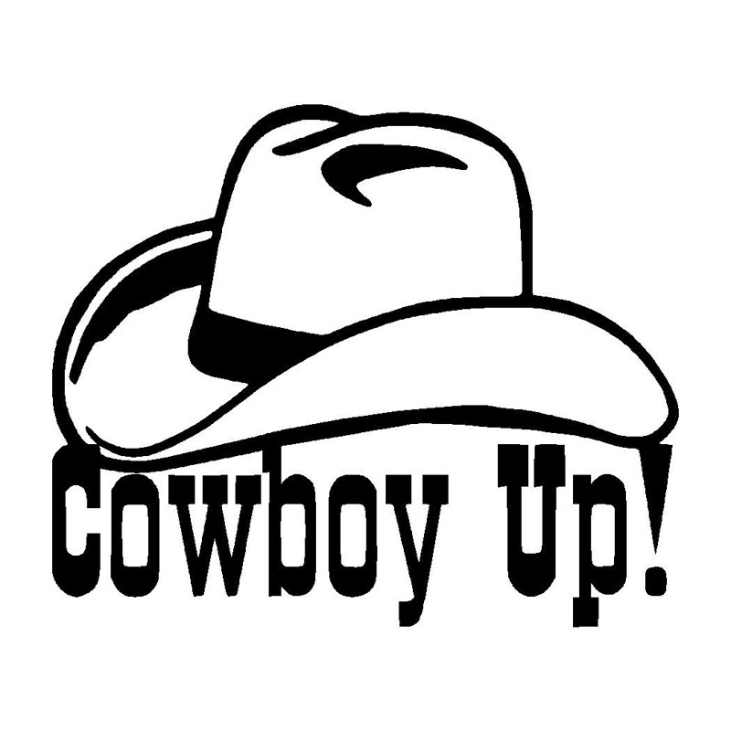 15 2cm12 5cm cowboy up fun unique vinyl graphic decal car window sticker decal car accessories black sliver c8 0937 in car stickers from automobiles