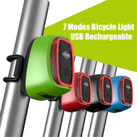 HOT NEW 2017Basecamp Rear Bike Light Taillight Safety Warning USB Rechargeable Bicycle Light Tail Lamp LED