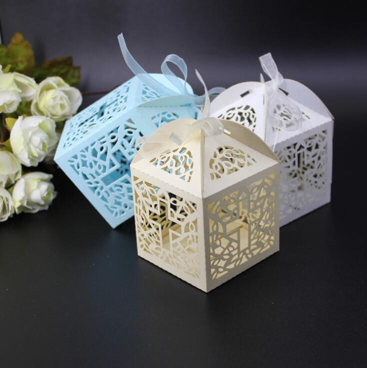 12pcs/lot DIY Crossing Candy Boxes Angel Gift Box For Baby Shower Baptism Birthday First Communion Christening Easter Decoration