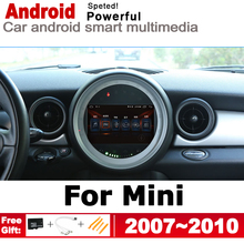 Android 2 DIN Car DVD GPS For Mini Hatch One Cooper 2007~2010 Navigation map multimedia player HD Stereo radio IPS WiFi system цена