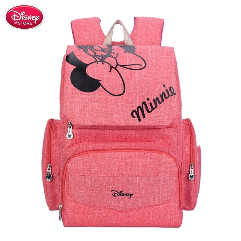 HTB1CAbtaiHrK1Rjy0Flq6AsaFXaS Disney Mummy Diaper Bag Maternity Nappy Nursing Bag for Baby Care Travel Backpack Designer Disney Mickey Minnie Bags Handbag