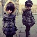 Бесплатная доставка зимние детская одежда с капюшоном хлопка мягкой одежды девушки расстроен длинный теплый с капюшоном зимняя куртка девушка верхняя одежда