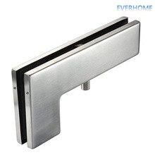 304 из нержавеющей стали для стеклянной двери изогнутые клипсы 7 заколка для волос крепление для дверей для 10-12 мм стекло 100KGS загрузка, DHL