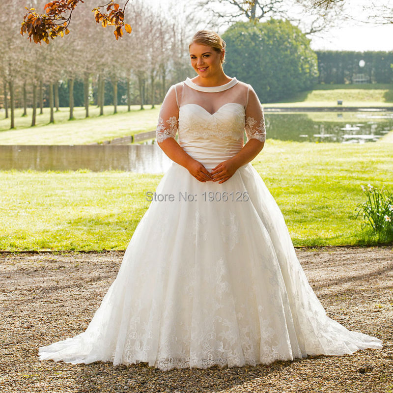 Piece Wedding Dress Plus Size