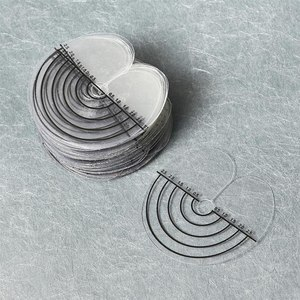 50 шт., круглые теплоизоляционные протекторы для наращивания волос