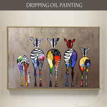 Unframed Artist Hand painted High Quality Modern Funny Animals Horses Oil Painting on Canvas Funny Donkey
