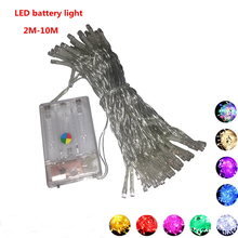 Kerst lichtslinger LED batterij licht 10M 80LEDS Kerstverlichting vakantie verlichting / bruiloft / LED decoratie lamp serie batterij