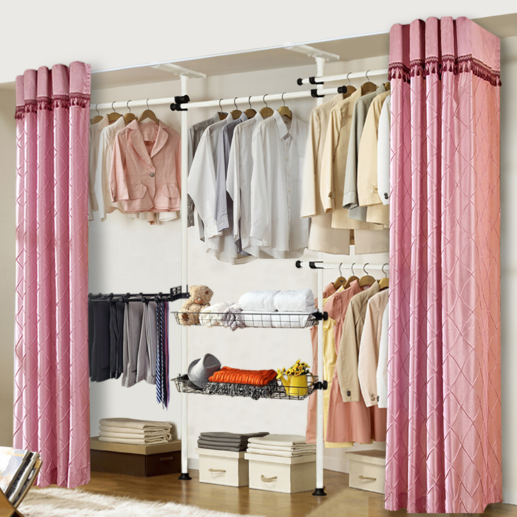 Korean Simple Wardrobe Closet Assembled Free Assembly Folding Metal Frame  Storage Cabinets Cloth In Wardrobes From Furniture On Aliexpress.com |  Alibaba ...