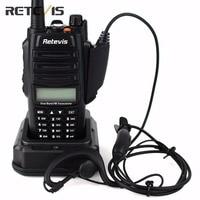 IP67 Professionale Walkie Talkie Retevis RT6 Impermeabile 5/3/1 W Dual-Band VHF UHF Radio Portatile torcia elettrica Radio Bidirezionale