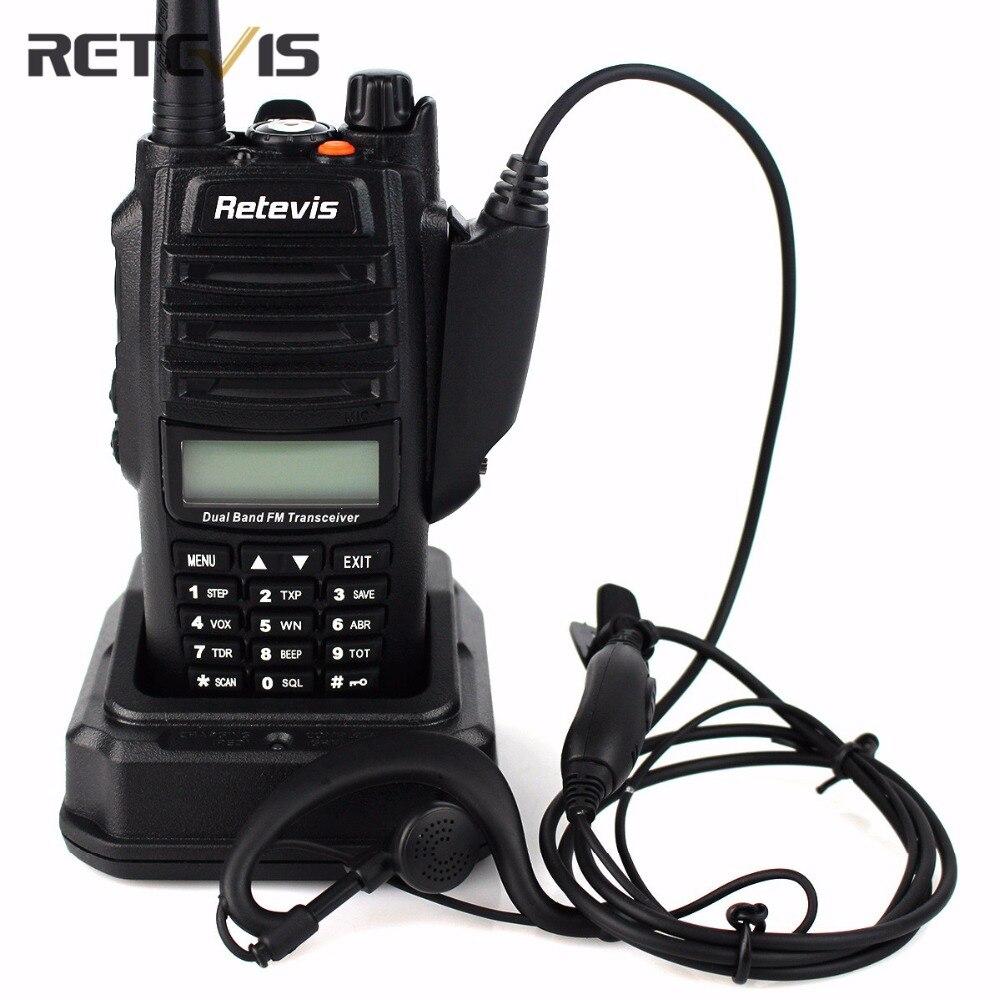 bilder für IP67 Professional Walkie Talkie Retevis RT6 Wasserdicht 5/3/1 Watt Dual-Band VHF UHF Handfunkgerät taschenlampe Funkgeräte