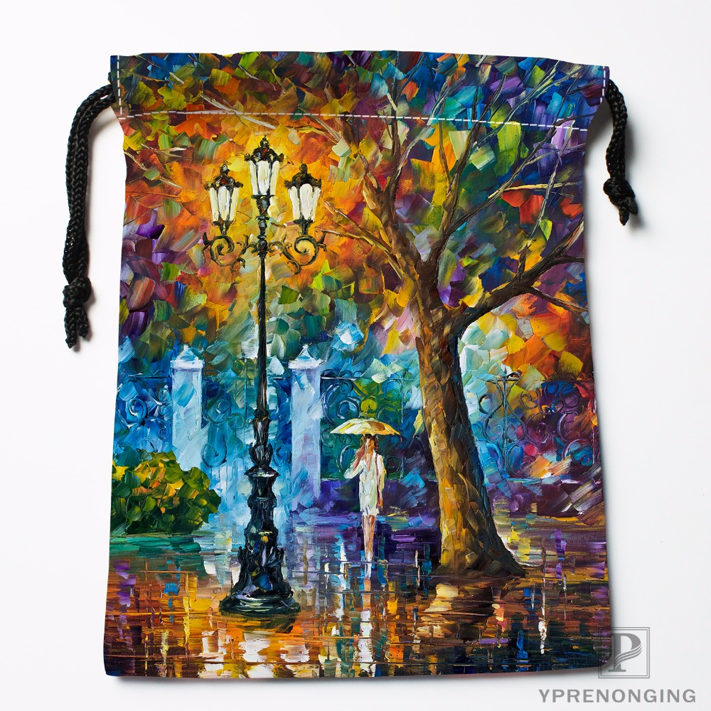 Custom Bigstock Autumn Forest Drawstring Bags Travel Storage Mini Pouch Swim Hiking Toy Bag Size 18x22cm
