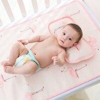 Bebek Yaz 3 Adet Için Uyku Mat Bebek Yastık Dolum Ile bebek Yatak Örtüsü Serin Bebek Beşik Levha Gömme Beşik Boyutu 120*60 cm
