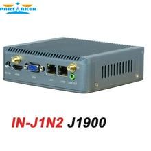 J1900 Nano Планшетный Компьютер 2 * rj45 Ethernet USB3.0 Поддержка wi-fi 3 Г мини Quad Core Nano PC Embedded Linux с 8 Г RAM SSD