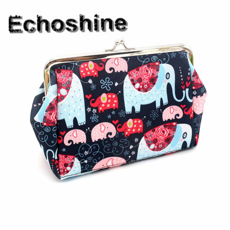 2016 popular Women Lady Retro Vintage Elephant Small Wallet Hasp Purse Clutch Bag gift wholesale carteira A0000