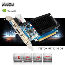Yeston GeForce GT 710 GPU 1GB GDDR3 64 bit Gaming Desktop computer PC Video Graphics Cards support PCI-E X8 2.0