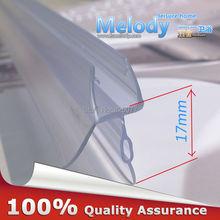 Plastic Rubber Bath Shower Screen Door Seal Strips 6-10mm Glass Door 10-17mm Gap length:700mm