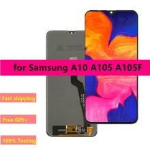 เปลี่ยนทดแทนสำหรับSamsung Galaxy A10 LCDจอแสดงผลDigitizer Assembly A10 A105 A105F SM A105F