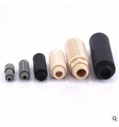 "Pneumatik Plastik Peredam Air Cepat Knalpot Muffler Menyerap Suara Mengurangi Filter 1/8 ""1/4"" 3/8 ""1/2"" Pria benang Hitam Biru"