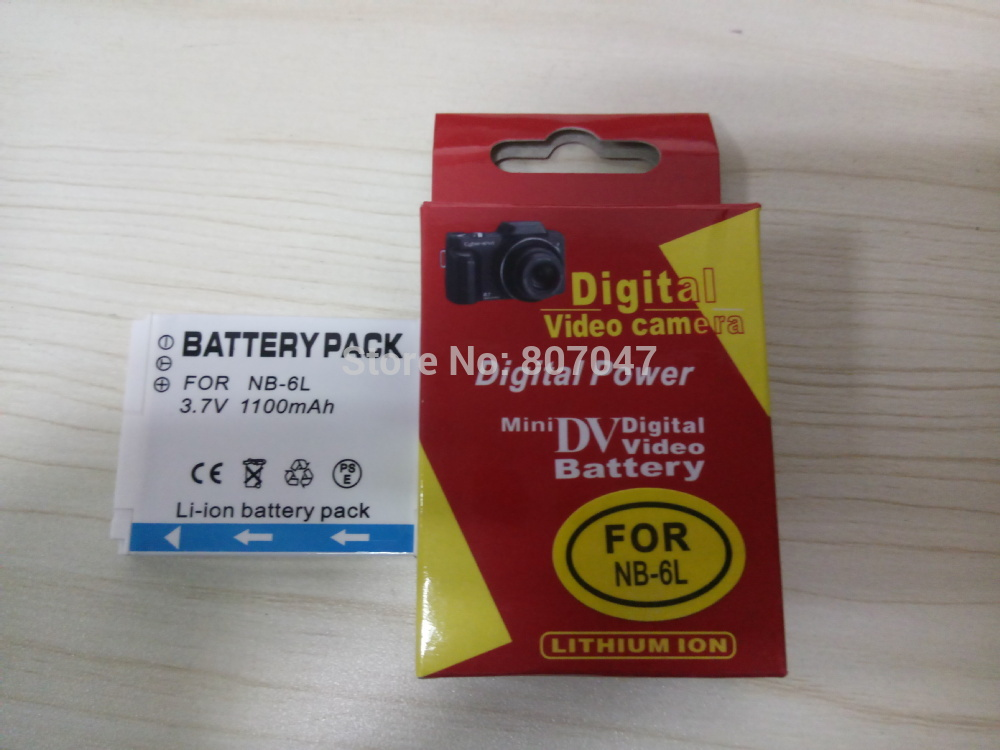 1PCS <font><b>NB</b></font>&#8211;<font><b>6L</b></font> NB6L <font><b>NB</b></font> <font><b>6L</b></font> 3.7V 1100mAh Li-ion Camera <font><b>Battery</b></font> for Canon PowerShot SX240 SX260 HS IXY110 SD980