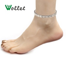 Wollet Body Jewelry 5 in 1 Stainless Steel Magnetic Anklets