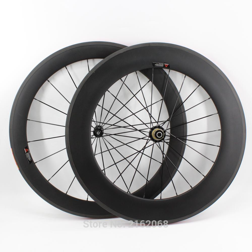 Newest lightest 700C front 60mm+rear 88mm tubular rims Road bicycle aero matt UD full carbon fibre bike wheelsets Free shipping