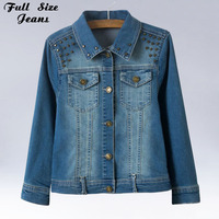 Autumn And Winter New Fashion Plus Size Denim Jacket With Rivet 4XL 5XL Oversized Jeans Jacket