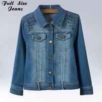 Autumn And Winter New Fashion Plus Size Denim Jacket With Rivet 4XL 5XL Oversized Jeans Jacket