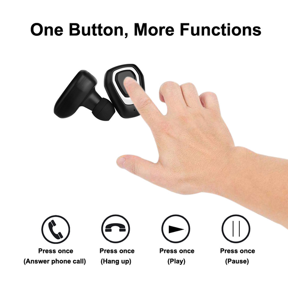 Mini True Wireless Sport Earbuds Headset Bluetooth HIFI In Ear Stereo Headphones For iPhone 8 X Hand Free Calling Drop Shipping