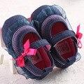 Кружева Детская Обувь Впервые Уокер Джинсовые Детская Одежда Обувь Цветочные Младенческой Малыша Мокасины Первый Шаг Прогулки Обувь Резиновый Дно
