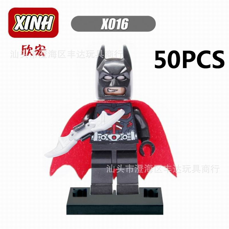 Lepin Pogo Bela Wholesale 50PCS XHX016 Batman The Avengers Marvel DC Super Heroes Building Blocks Bricks Compatible Legoe Toys