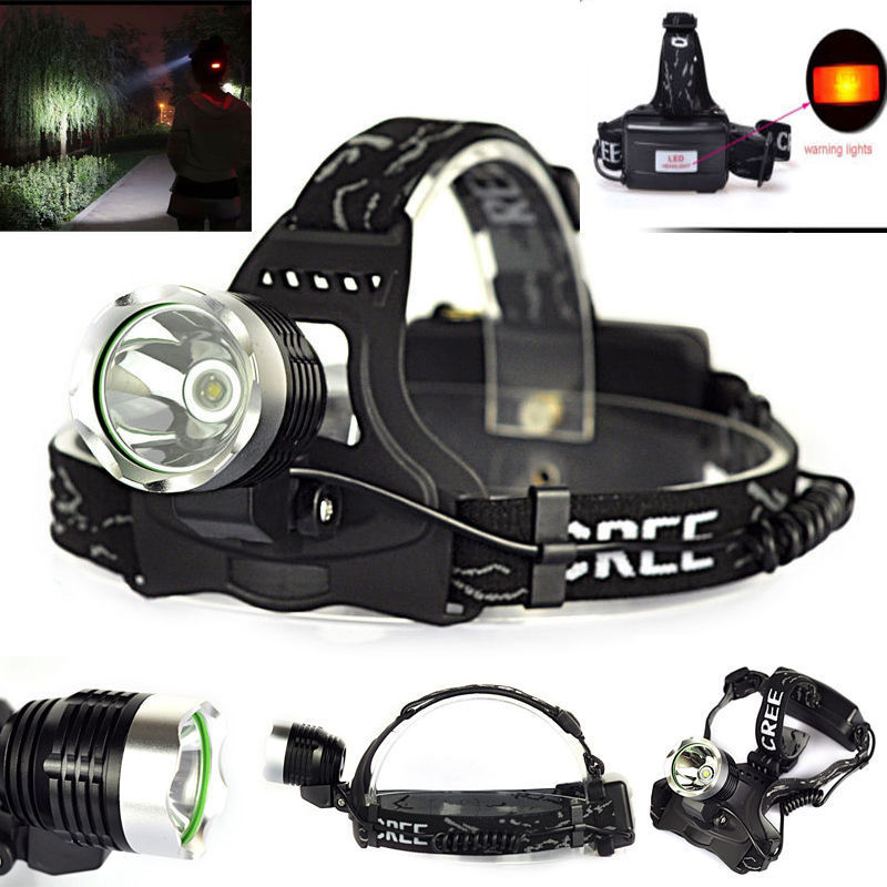 LED Headlamp 2000lm T6 LED Head lamp Light Flashlight Hunting Light Headlight 3 Mode 18650 Flashlight torch ...