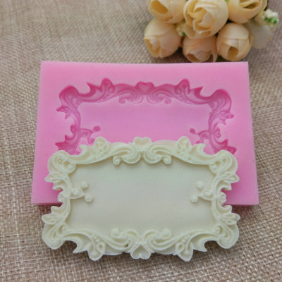 Flower Frame Silicone Mold For Fondant, Chocolate, Crafts Sugarcraft Cake Decorating Fondant / Fimo Mold H714