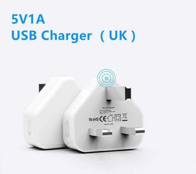 USB Travel Wall Charger Adapter UK Plug 5V1A For Sharp AQUOS S2/AQUOS S3/A1/X1 Mobile Cell Phone Tablet Fast Charging