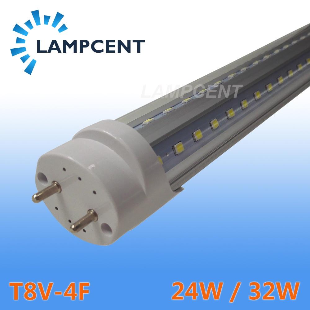 LED Tube Lamp G13 V-Shaped 270 Degree 4FT Retrofit Fluorescent Bulb Super Bright 48 T8 G13 Bar Lamp 4 pack free shipping led tube lights 4ft 120cm 24w t8 g13 retrofit bulb work into existing fixture 85 277v good lamp