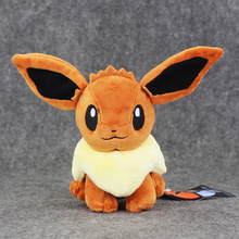 17cm Anime Poke Eevee Plush Toys Kawaii Eevee Genius Soft Stuffed Doll with Tag Kids Toys