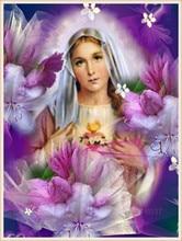 Diamant Diy 5D Diamond Painting Cross Stitch Virgin Of The Fresh Flowers Needlework Embroidery Full Decorative