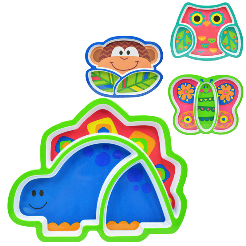 Cartoon Animals Feeders Children Food Plate Dishes Tableware Dining Table Food Plate Baby Feeding Supplies Baby Using Good Companions For Children As Well As Adults Mother & Kids