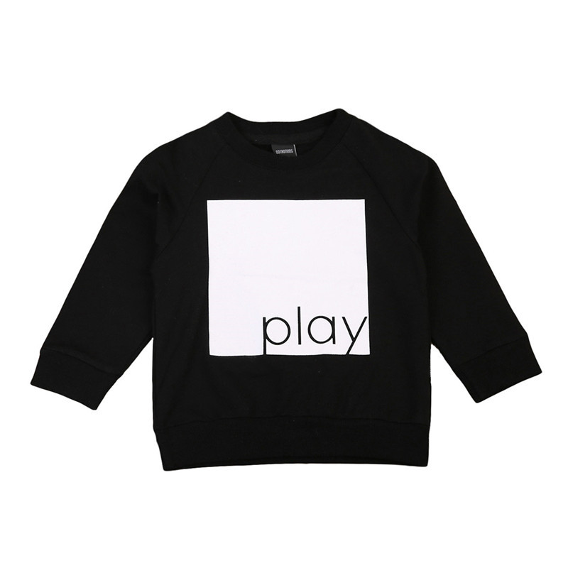High Quality Kids Baby Boy Girls Tops Sweatshirt Jumper Warm T-shirt Long Sleeve Tops Pullover Clothes 1-6Y