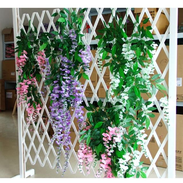 70cm Artificial Silk Wisteria Garland Fake Garden Hanging Flower Plant Vine Home Wedding Party Event Decor