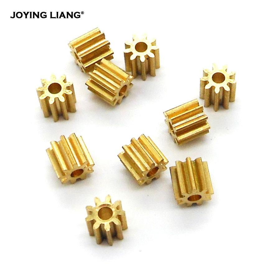 92A / 91.5A 0.4M Copper Pinion Gear 9 Teeth 2mm 1.5mm Shaft Metal Gears Motor Parts Accessory 10pcs/lot