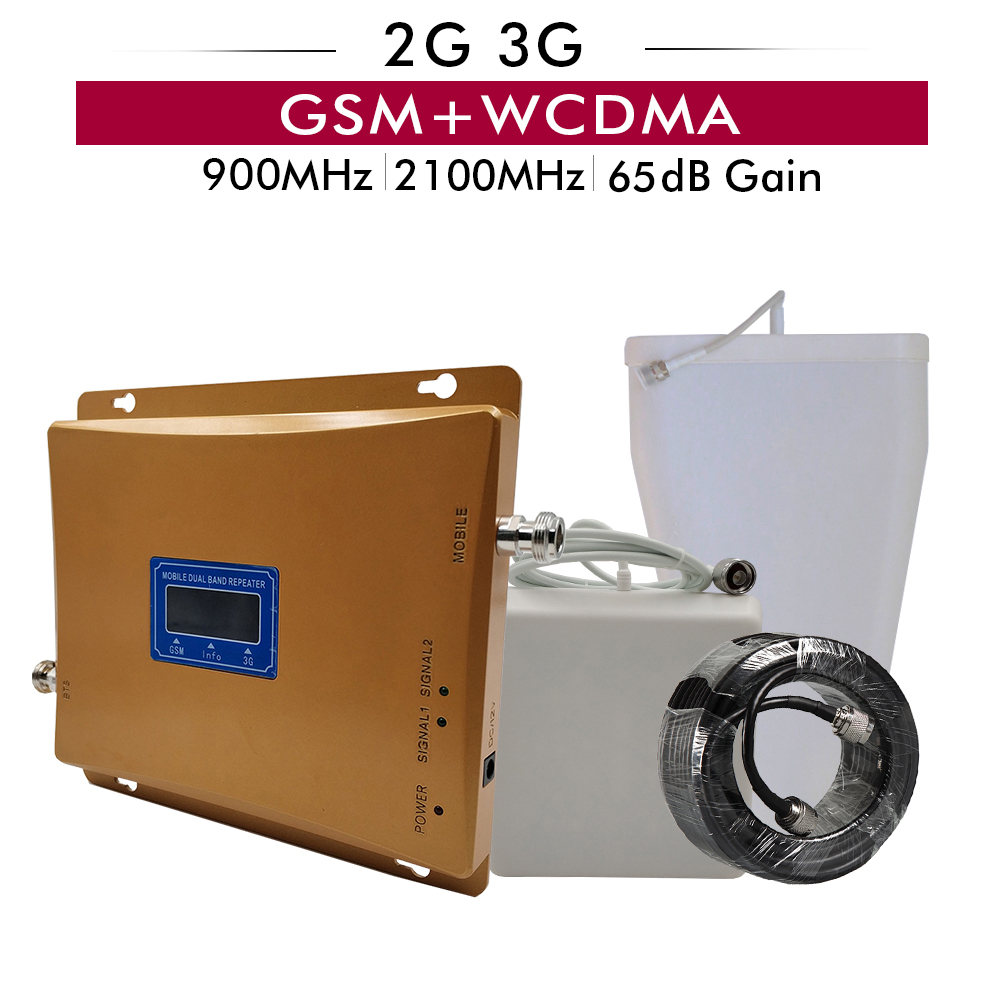 Dual Band Mobile Signal Booster GSM 900 UMTS WCMDA 2100 Cellphone Signal Repeater 2G 900MHz 3G 2100MHz Cellular Signal AmplifierDual Band Mobile Signal Booster GSM 900 UMTS WCMDA 2100 Cellphone Signal Repeater 2G 900MHz 3G 2100MHz Cellular Signal Amplifier