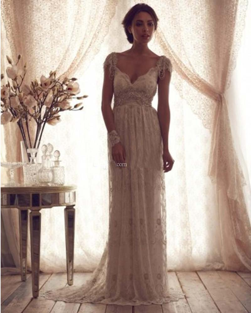 Anna Campbell Wedding Gowns: Vintage Anna Campbell Wedding Dresses Lace Bridal Gowns