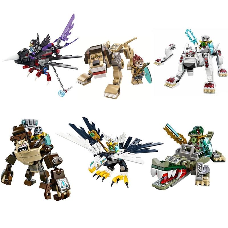 6Pcs/lot Qigong legendary animal editon 2 CHIMAED Super Heroes figure Building Blocks Bricks For Children Gift Kids Toys BL139
