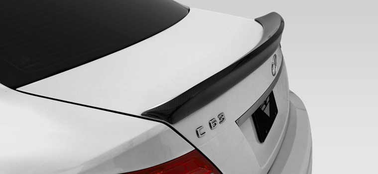 W204 C63 Carbon Fiber Rear Trunk Boot Spoiler Wing Lip for Mercedes - Auto Replacement Parts - Photo 4